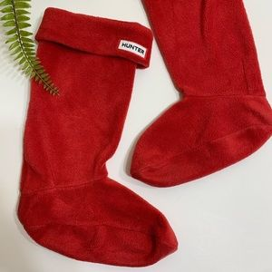 Hunter • red fleece calf high sock boot liner